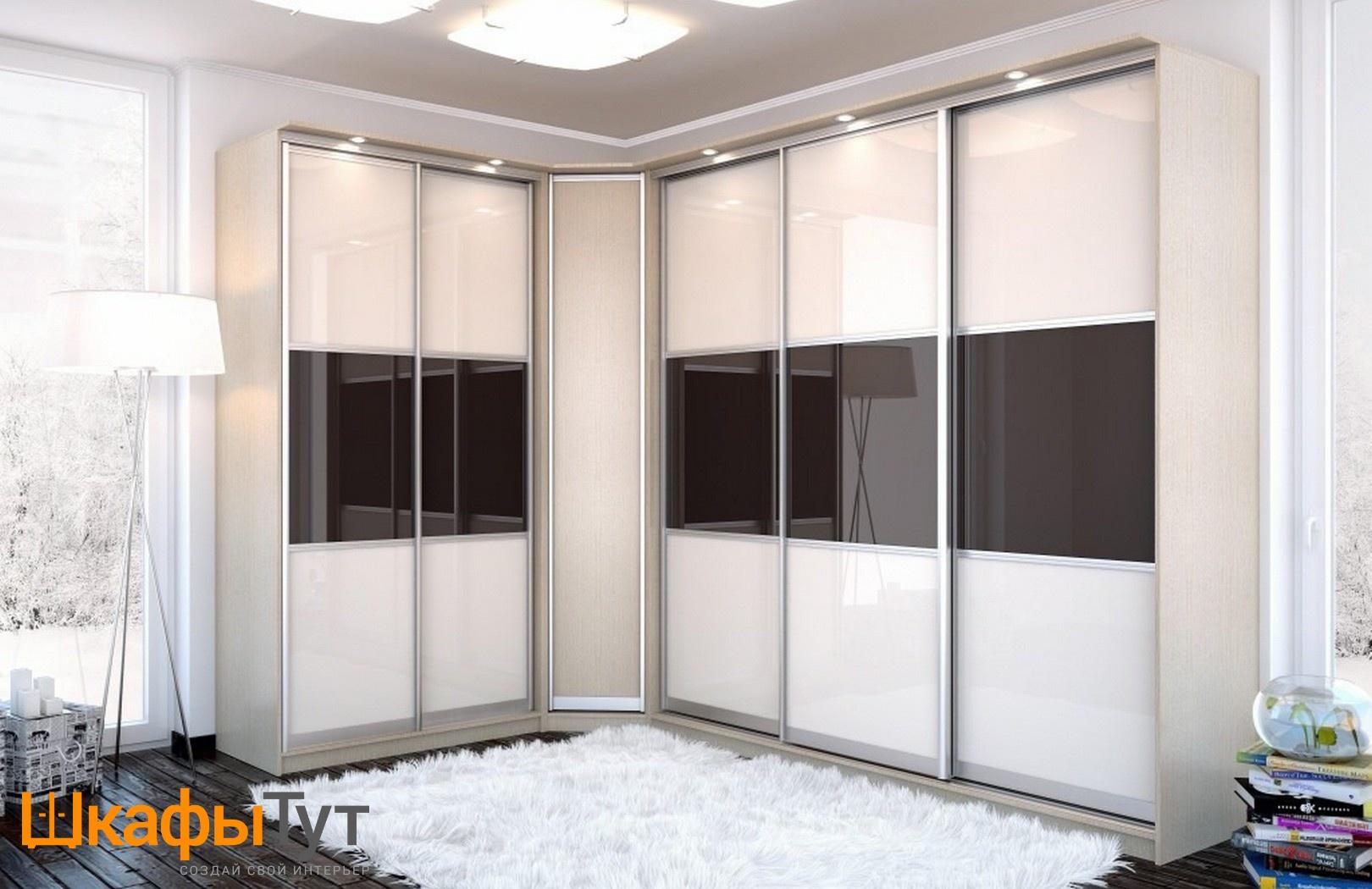 Угловые встроенные шкафы купе фотогалерея